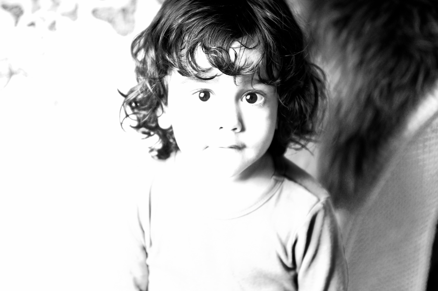 shadows highlights black and white toddler photograph