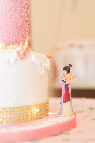 mulan disney cake